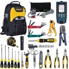 Набор инструментов для обслуживания кабельных линий связи и Ethernet в рюкзаке Iron-Harry UK-LAN-2-PRO