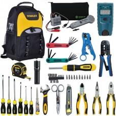 Набор инструментов для обслуживания кабельных линий связи и Ethernet в рюкзаке Iron-Harry UK-LAN-2